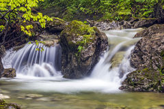Long Exposure Photo Of A Mountain river Stock Photos