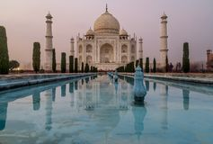 Long exposure photo of Taj Mahal, Agra, India royalty free stock images