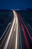 Long exposure photo of traffic Royalty Free Stock Photography