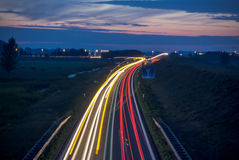 Long exposure photo of traffic Royalty Free Stock Image