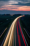 Long exposure photo of traffic Royalty Free Stock Photos