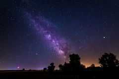 Milky way near Madrid, Spain royalty free stock images