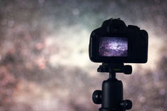 Long exposure photography. Astronomy Astrophotography. Space. Astrophotography Stock Images