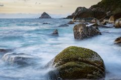 Long exposure photography of beautiful sea scape koh tao thailan Royalty Free Stock Image