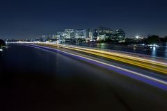 Long exposure photography of chaopraya river most important rive Stock Photo