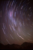 Long exposure photography of the night sky Stock Image