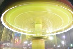 Long exposure photography of rides royalty free stock photo