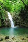 Long exposure photos of Tatlica Waterfall in Erfelek, Sinop in Turkey royalty free stock photos