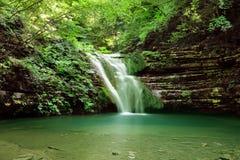 Long exposure photos of Tatlica Waterfall in Erfelek, Sinop in Turkey royalty free stock images