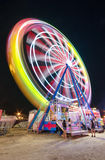 Long exposure picture of a Ferrys wheel rotating in a small local amusement park Royalty Free Stock Photo