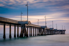 Long exposure of the pier at sunset  Royalty Free Stock Photos
