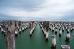 Long Exposure at Princes Pier, Port Melbourne, Australia Stock Image