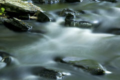 Long exposure of rapids on the Blackledge River, Hebron, Connect Royalty Free Stock Photography