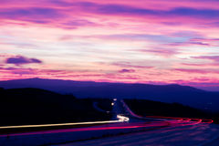 Long exposure of a road Royalty Free Stock Image