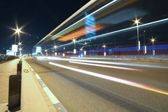 Long Exposure for Road in night royalty free stock photos