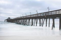 Long Exposure of Scripps Pier royalty free stock image