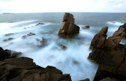 Long exposure of sea coast cliffs Stock Images