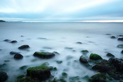 Long exposure on the sea Royalty Free Stock Photography