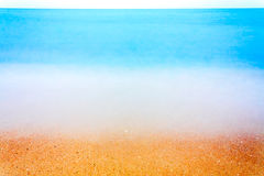 Long Exposure Of Sea Ocean Water Beach Royalty Free Stock Photo