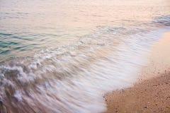 Long Exposure Of Sea Ocean Water Beach Royalty Free Stock Photos