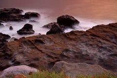 Long exposure of sea shore Stock Photos