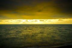 Long Exposure Seascape cloudscape landscape sunrise shot Stock Images