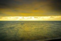 Long Exposure Seascape cloudscape landscape sunrise shot Royalty Free Stock Image