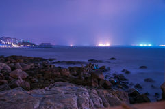 Long Exposure Seascape at Night Royalty Free Stock Image