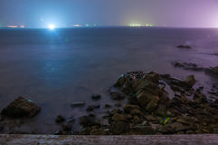 Long Exposure Seascape at Night Royalty Free Stock Images