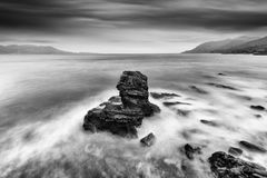 Long exposure Seascape with Rocks Royalty Free Stock Image