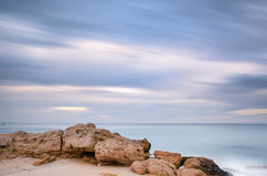Long exposure of  seascape during the winter, Apulia - Italy Royalty Free Stock Photos