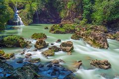 Semuc Champey Cascades in Guatemala royalty free stock photo