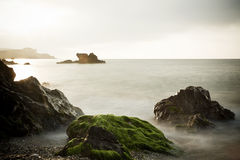 Long exposure on shore Stock Photography