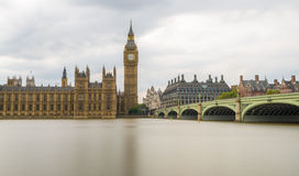 Long Exposure shot of Big Ben and Houses of Parliament, London Stock Photo