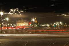 Long Exposure Shot of the Famous Parisian Lights Royalty Free Stock Photo