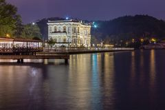 Long exposure shot of Kucuksu Palace or Goksu Pavilion royalty free stock image