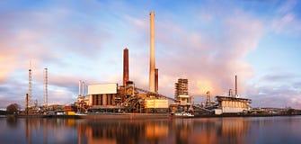 Refinery Daytime Long Exposure Royalty Free Stock Photo