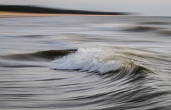 Long exposure shot of sea waves Royalty Free Stock Images