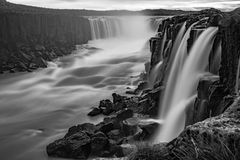 Selfoss waterfall - Iceland. A long-exposure shot exposure of the Selfoss waterfall in Iceland Royalty Free Stock Image