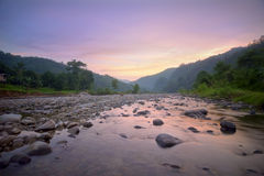 Long exposure shot of a stream in the tropics Royalty Free Stock Photography