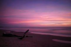 Long exposure shot, twilight on the beach Royalty Free Stock Photos