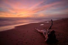 Long exposure shot, twilight on the beach Royalty Free Stock Photo