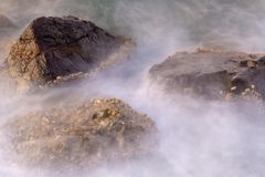 Mystical Rocks in the Sea royalty free stock photos