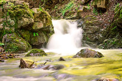 Long Exposure Small Waterfall Royalty Free Stock Photos