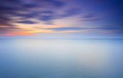 Long Exposure of soft sunset for background Royalty Free Stock Photo