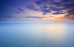 Long Exposure of soft sunset for background Royalty Free Stock Images