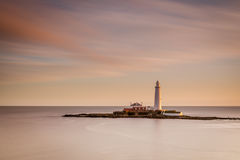 Long Exposure at St Mary's Lighthouse Royalty Free Stock Photography