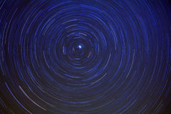 Long Exposure Star Trails Royalty Free Stock Photography