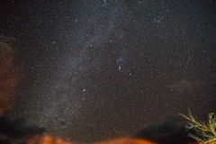 Starry Night in Death Valley stock images