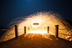 Long exposure of steel wool begin of light Stock Photos